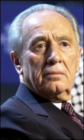 Former Isreaeli president Shimon Peres's reputation as a 'peacemaker' is a myth, photo by Nader Daoud (Creative Commons)