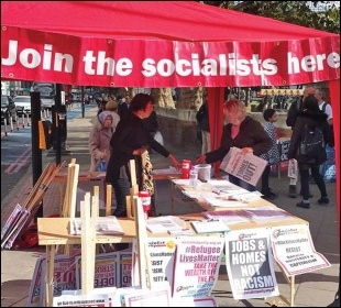 Having a national centre is vital to maintain the Socialist Party as a campaigning organisation, photo Socialist Party
