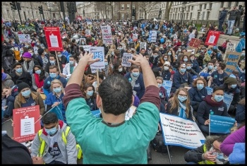 NHS at breaking point - national demo and health workers' strike needed photo Paul Mattsson, photo Paul Mattsson