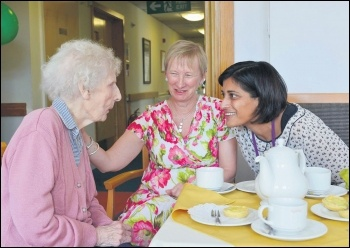 Social care for the elderly is under threat from councils across the UK, photo Joe D Miles for CQC (Creative Commons)