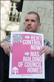 Protesting against the effects of the housing crisis, photo Paul Mattsson