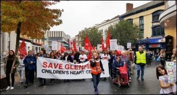 Glenfield heart unit demo 29.10.16, photo by Steve Score