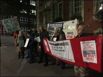 Housing and NHS campaigners unite to lobby Greenwich council photo