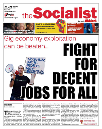 The Socialist issue 923: Fight for decent jobs for all