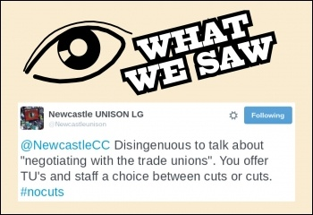 Newcastle Unison takes on the council on Twitter