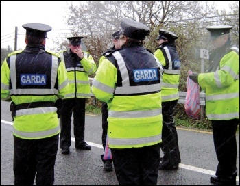A strike threat by Irish police forced a major climbdown from the government over pay, photo by Shell to Sea (Creative Commons)