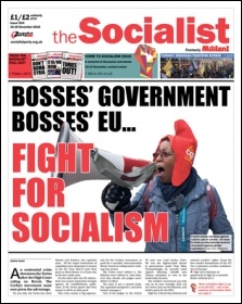The Socialist issue 924 front page