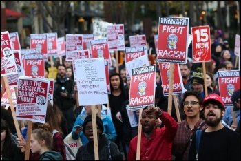 Seattle protest in November against Trump's victory, called by Socialist Alternative, photo Socialist Alternative