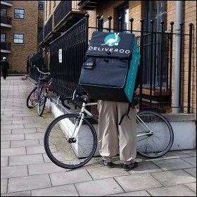 Deliveroo food delivery workers are unionising to win employment rights, photo by M�sieur J (Creative Commons)