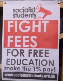 Socialist Student poster, Nov 2016, photo JB