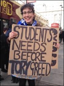 NUS-UCU demo, London, 19.11.16, photo by Judy Beishon