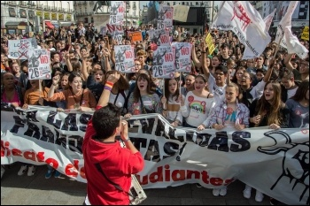 Spanish student strike, 26 October 2016, photo SE