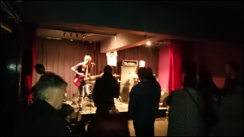 The Daves rounding off the Unison young members gig photo Leeds Socialist Party