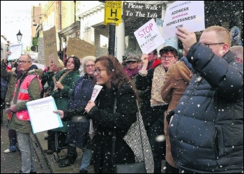 Medway Justice for Homeless People protest photo Ivor Riddell