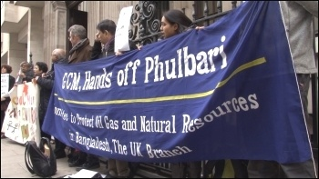 Protest outside the AGM of Global Coal Management Resources  on 15 December, London, photo by P Mason