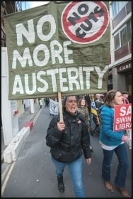 Marching against austerity, photo Paul Mattsson