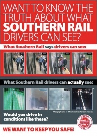 An Aslef leaflet explains what drivers can actually see from the cab