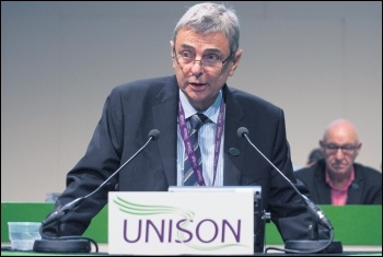 Unison's right-wing general secretary Dave Prentis, photo by Paul Mattsson