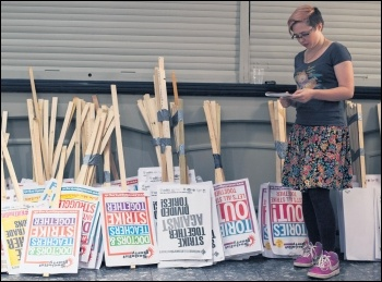 Placards like these cost money - fighting fund helps pay for them, photo Paul Mattsson