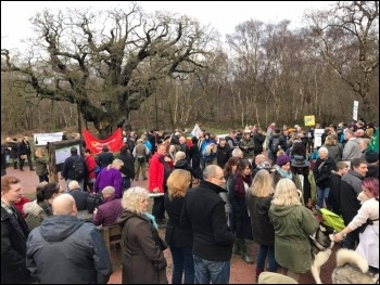 Anti-fracking protesters, Sherwood Forest, 7.1.16, photo Jane Crowter