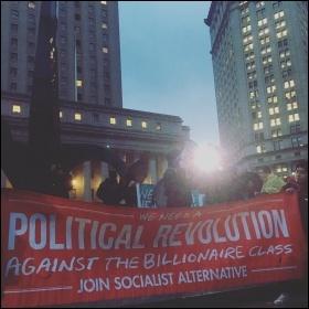 Socialist Alternative at the New York demo photo Socialist Alternative NYC