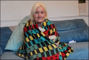 74-year-old Shirley Walsh had her heating cut off and couldn't afford to replace it