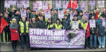 Atomic Weapons Establishment strike rally, photo Unite the Union