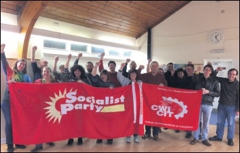 Some of the members at the Socialist Party Southern regional conference, photo by Nick Chaffey