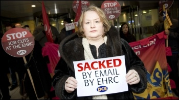 Sacked EHRC worker Finola Kelly photo PCS