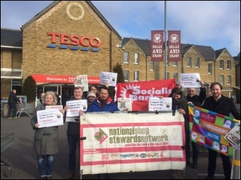 Solidarity from the NSSN in London photo Paul Callanan