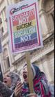 Anti-Trump protester, photo by Paul Mattsson