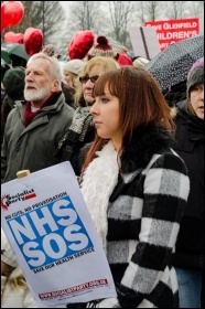 Glenfield hospital demo, Feb 2017, photo S. Seaton