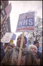 Save our NHS demo 4.3.17, photo Paul Mattsson