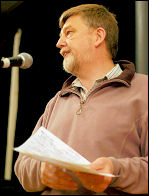 Dave Nellist at Socialist Party congress, photo Paul Mattsson