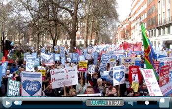 #OurNHS demo 4 March 2017