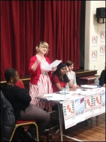 IWD 2017, London, UK, Socialist Party meeting