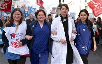 Nurses and doctors marching to save the NHS, 4.3.17, photo davidmbailey photography