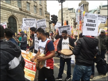 Anti-racism demo 18.3.17, photo by Paula Mitchell