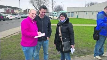Collecting signatures photo William Jarrett