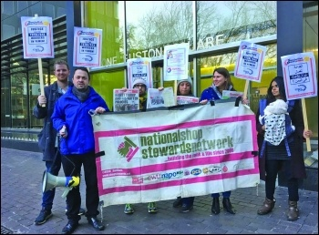 CWI members organised solidarity action for Yemen workers photo GG