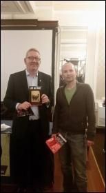 Len McCluskey and Paul Murphy photo Philip Stott