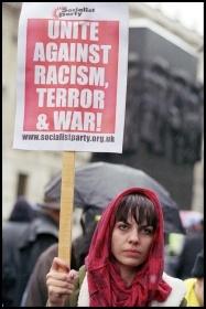 Demonstrating against the Iraq war, photo Paul Mattsson