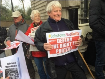 Protest outside Irish embassy, London, 23.3.17, photo Cedric