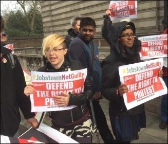 Protest outside Irish embassy, London, 23.3.17, photo by Cedric