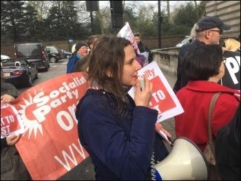 Protest outside Irish embassy, London, 23.3.17