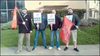 Fujitsu strike, Warrington