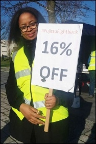 Fujitsu strike, Manchester, 24.3.17, photo by Becci Heagney