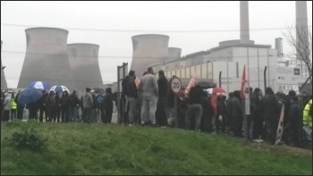 Ferrybridge power station protest 29.3.17, photo by A Tice