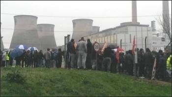 Ferrybridge power station protest 29.3.17, photo A Tice