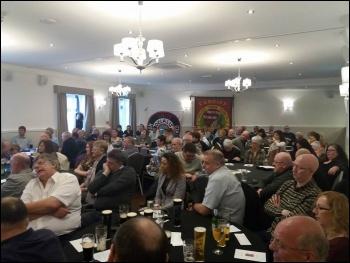 Bernard Roome's memorial meeting in Swansea 25 March 2017 photo Ross Saunders